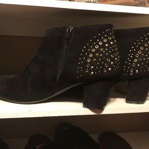 Lane Bryant suede booties in used condition